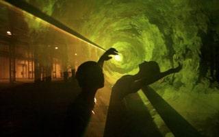 Lasereffekte beim Tanztheater