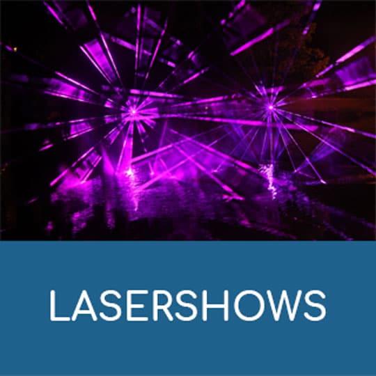 Lasershows der LASA Berlin