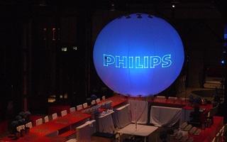 Leuchtballons mit Laserprojektion als Branding