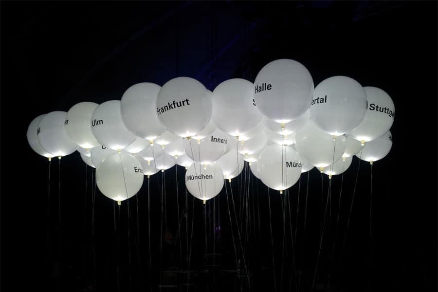 Leuchtballons bedruckt & beleuchtet