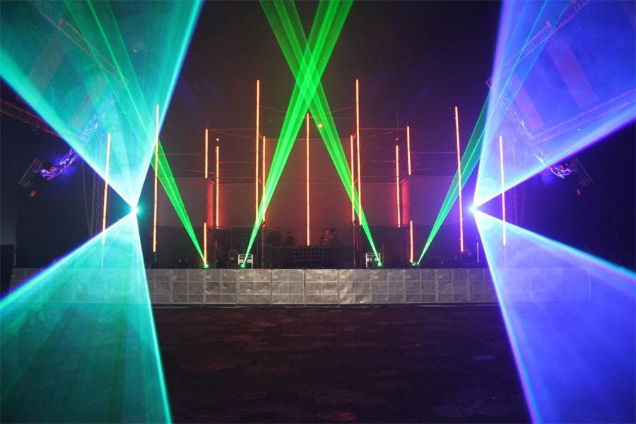 Lasereffekte-Tanzveranstaltung